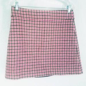 J Crew Lined Wool Blend Lipstick Pink Womens Skirt